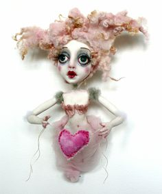 Happy Valentine's Day!  Fall in love with Sheri DeBow artist's amazing art dolls tomorrow at Daydreams and Nightmares from Beyond Toyland: Sheri DeBow Solo Exhibition