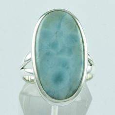 Larimar Stone Classic 925 Solid Sterling Silver Ring __ Jaipur Silver India by JaipurSilverIndia on Etsy