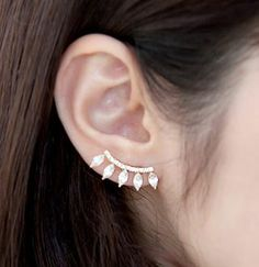 Curved Diamond Stream Earrings | LilyFair Jewelry, $11.99!