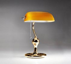 Led bankers lamp desk lamp table lamp reading light antique green collectorss gold banker lamp or desk lamp or piano lamp aloadofball