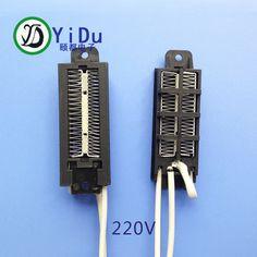 2pcs PTC ceramic air heater 100W/220V with temperature fuse