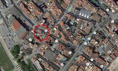 Local privat en el carrer d'Andreu Vidal a Sant Adrià de Besòs, segona opció per poder fer el reportatge del projecte.