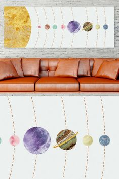 The Planets poster created using grandiose marble textures and are a gorgeous decor for kids room. Look at the beauty of this magnificent marble! Unique artwork is a modern collage, not an illustration.  Solar System Poster, Nursery Decor, Space Art Horizontal, Extra Large Wall Art, Galaxy Print, Astronomy Art. Check out on MarbleArtCo