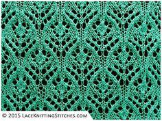 Lace knitting. Chart pattern