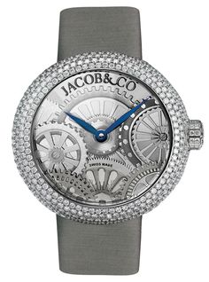 Jacob & Co.'s Brilliant Collection with a Stainless Steel Case and Full Pavé Round Diamonds