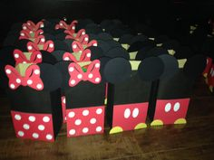 Minnie and Mickey Mouse favor bags by CrtnsByVicky on Etsy