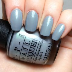 OPI Fiji - I can never hut up GelColor blue grey favorite square Blush Pink Nails, Blue Nails, Opi Nails, Manicure And Pedicure, Queen Nails, Gel Nail Colors, Girls Nails, Nail Polish Collection, Fabulous Nails