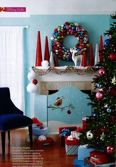 turquoise blue red xmas decor - Teal And Red Christmas Decorations