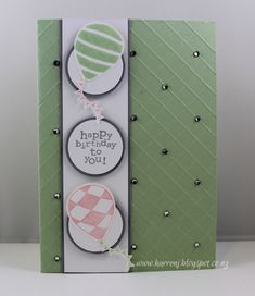 Pistachio Birthday by karrenj - Cards and Paper Crafts at Splitcoaststampers