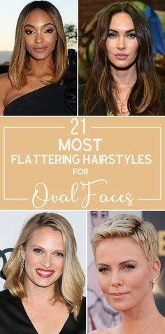 21 Most Flattering Hairstyles for Oval Faces is part of The Most Flattering Hairstyles For Oval Faces In - For those on the hunt for the best oval face shape hairstyles, we've rounded up a list of the most flattering haircuts for oval faces Oval Haircut, Trendy Haircut, Haircut For Face Shape, Oval Face Haircuts, Face Shape Hairstyles, Hairstyles For Round Faces, Cool Haircuts, Pretty Hairstyles, Straight Hairstyles