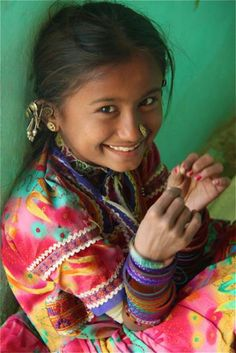 Youngster from Kutch - makes me happy just looking at her