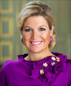 Her Royal Highness Princess Maxima wears the royal color purple well.
