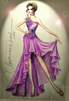 é um desenho de uma estilista que eu vi na net.