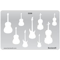 Guitar Craft Template | 2230 Art and Craft Design Template Stencil for Jewellery Making ...