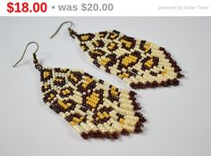 Beaded Earrings Native American Style-gift for by BeadsAmi on Etsy