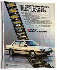 Vintage Ad Pontiac 2000 Sunbird 1984 From 1983 Magazine Car Print GM