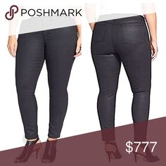 Plus Size Wax Coated Jeans Amazing black jeans were only used once. Details to come. ZCO Jeans Skinny