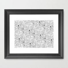 Little Escher's Building Blocks Framed Art Print by Stephen Chan - $32.00