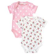 Hankie Rose Pack of 2 Baby Bodysuits