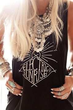 ELECTRIC SUNRISE Tank / Blk – MATE the Label