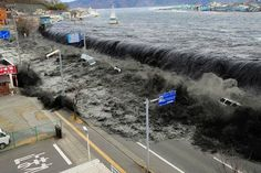 What is a Tsunami? What Causes Tsunami? A tsunami also known as a seismic sea wave, is a series of waves in a water body caused by the displacement of a Tsunami 2011, Tsunami Waves, Tsunami Warning, Fukushima, No Wave, Japan Earthquake, Earthquake And Tsunami, Natural Disasters, Mother Nature