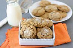 Pumpkin Gingersnap Cookies from twopeasandtheirpod.com A fall favorite!