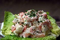 Ensalada de papas con camarones or shrimp potato salad YUMMMMMMMMMMMMMMMMMMMMMM forever