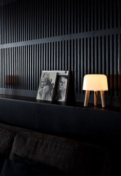 Milk Table lamp I Norm Architects Black Interior Design, Interior And Exterior, Gothic Interior, Hotel Lounge, Black Rooms, Dark Walls, Nordic Design, Wall Design, Home Decor