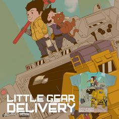 Please vote for my submission! Little Gear Delivery! on Threadless