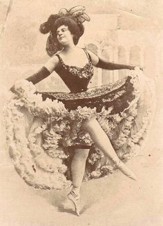 Can can dancer. France, 1900s.