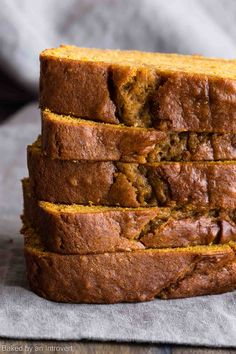 When you take a bite of this classic Pumpkin Bread, you will fall in love with pumpkin all over again. The bread is full of rich pumpkin flavor and warm spices. It's sweet, fresh, and will be the best pumpkin bread you've ever had. via /introvertbaker/ Brownie Desserts, Fall Desserts, Delicious Desserts, Dessert Recipes, Yummy Food, Thanksgiving Desserts, Dinner Recipes, Fall Baking, Holiday Baking