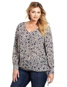 Lucky Brand Women's Plus-Size Farrah Printed Top