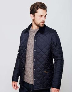 mens Barbour heritage liddesdale quilted jacket navy men