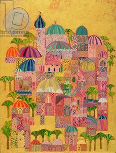 The Golden City, 1993-94 (acrylic on canvas)