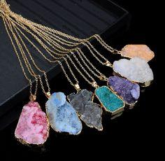 Druzy Gemstone Necklace