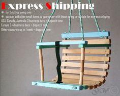 Personalisierte aus Holz handgefertigt Schaukel Babyschaukel