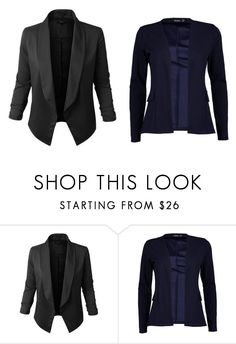 """basic blazers"" by laura-itzeel-pnaran on Polyvore featuring moda, Jupe de Abby y Boohoo"