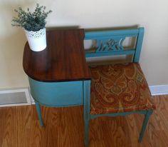 SOLD Vintage Gossip Chair/ Telephone Table by BeautifullyRefurbish