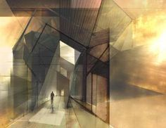 Space+light renderings by Johan Al. The way that one beam of light can lit the whole space.