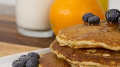 WHOLE WHEAT PANCAKES  These wholesome pancakes, also known as pioneer pancakes, are perfectly paired with peach butter and raspberry maple syrup.