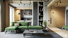 A Concrete and Wood Townhouse in Belarus