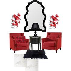 Reading spaces by vonda-brooks on Polyvore featuring interior, interiors, interior design, home, home decor, interior decorating, M&Co and Mirror Image Home