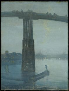 'Nocturne: Blue and Gold - Old Battersea Bridge', James Abbott McNeill Whistler, c.1872-5 | Tate