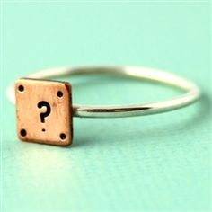 Super Mario Question Block Stacking Ring - Spiffing Jewelry