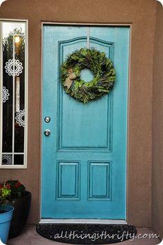 paint your front door with glaze technique