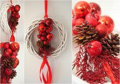 dekoracja świateczna na drzwi/ red christmas decoriation