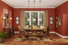 We love the warm colors in this dining room.
