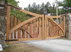 cedar driveway gate. one of my favourites.