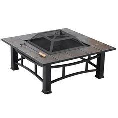 "35"" Deluxe Square Ceramic Tile Fire Pit"