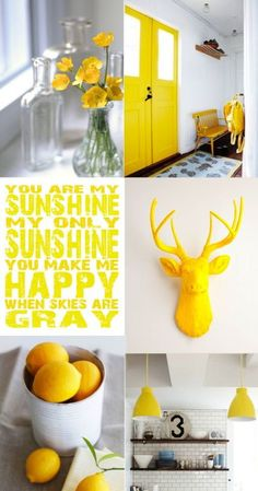 Moodboard Yellow By UDB ✭ https://www.facebook.com/pages/UDB-Interieurstyling/168210796576310?ref=hl